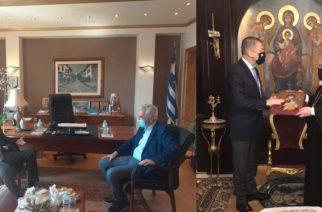 Συνάντηση Αλκιβιάδη Στεφανή με τον δήμαρχο Σουφλίου Π.Καλακίκο και τον Μητροπολίτη κ.Δαμασκηνό
