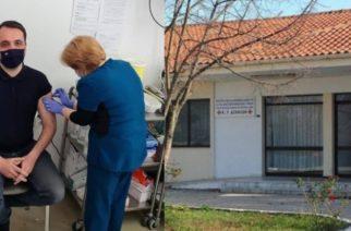 Δερμεντζόπουλος: Εμβολιάστηκε με Astra Zeneca στο Κέντρο Υγείας Δικαίων, ο βουλευτής Έβρου
