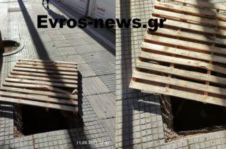 Ορεστιάδα: Πεζοδρόμιο-καρμανιόλα, επικίνδυνο για τους πεζούς στο κέντρο της πόλης