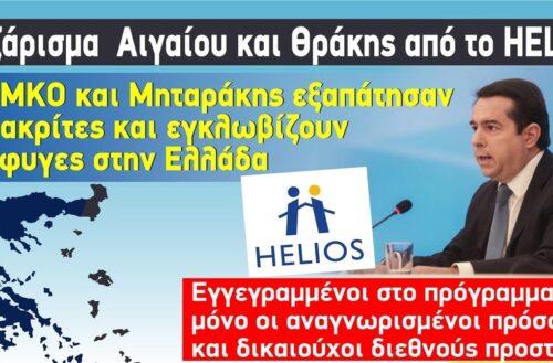 """Γκριζάρισμα Έβρου και Αιγαίου με το πρόγραμμα """"HELIOS"""", από Μηταράκη, ΜΚΟ"""