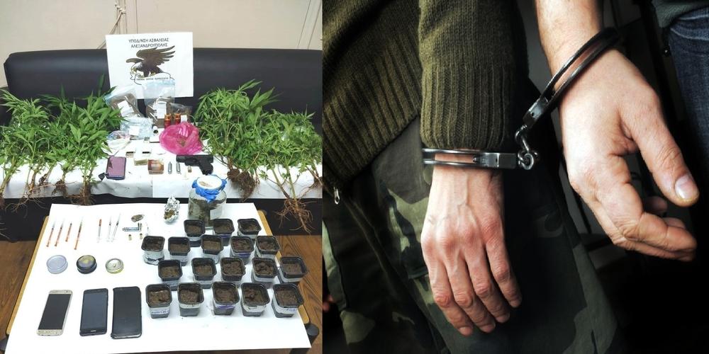 Το μπλόκο στον κάθετο άξονα, οι συλλήψεις για ναρκωτικά, ο αστυνομικός σκύλος και τα δενδρύλλια χασίς