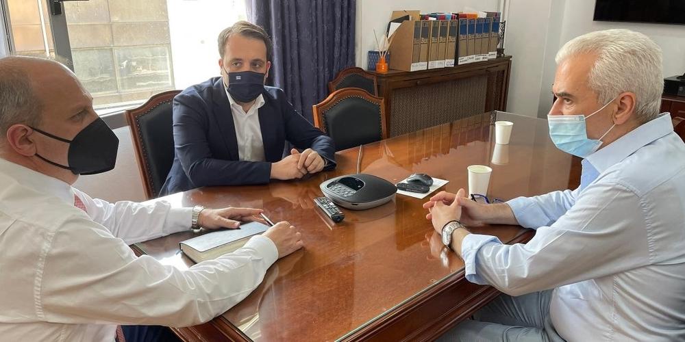Σουφλί: Συνάντηση του δημάρχου Παναγιώτη Καλακίκου με τον υφυπουργό Αγροτικής Ανάπτυξης στην Αθήνα