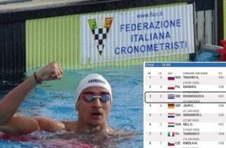 ΜΠΡΑΒΟ: Χάλκινο μετάλλιο ο Τάσος Κούγκουλος του Ν.Ο.Αλεξανδρούπολης, στο Ευρωπαϊκό Πρωτάθλημα Κολύμβησης