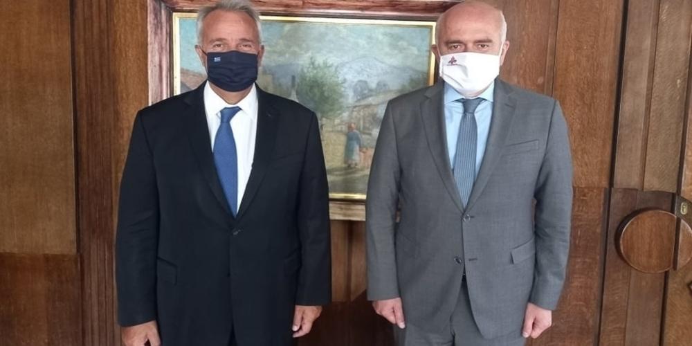 Την ενίσχυση με προσωπικό, ζήτησε ο Περιφερειάρχης Χρήστος Μέτιος απ' τον υπουργό Εσωτερικών Μάκη Βορίδη