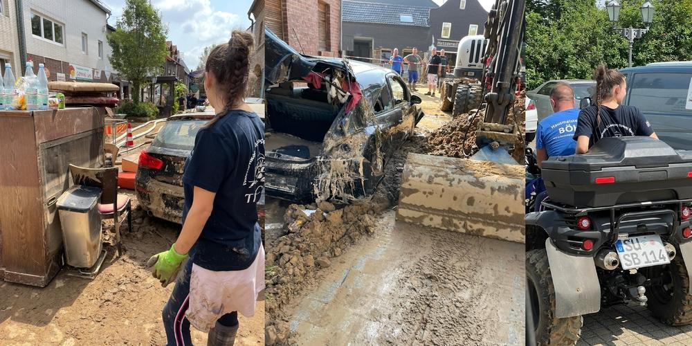 """Βέλγιο: Εθελοντές του """"Συλλόγου Θρακιωτών Βρυξελλών"""" βοήθησαν τους πληγέντες απ' τις καταστροφικές πλημμύρες"""