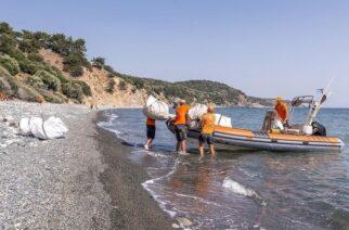 Ο «Τυφώνας» καθάρισε τις ακτές της Σαμοθράκης