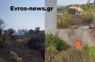 """Σουφλί: Απομακρύνθηκαν προληπτικά κάτοικοι απ' το χωριό Κοτρωνιά – Κινδύνεψε η εκκλησία – Τέσσερα εναέρια μέσα στη """"μάχη"""""""