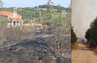 """Ύφεση η πυρκαγιά στο Σουφλί – Ολονύχτια επιφυλακή της Πυροσβεστικής – Καλακίκος: """"Προβληματισμός απ' τις φωτιές στη Δαδιά"""""""