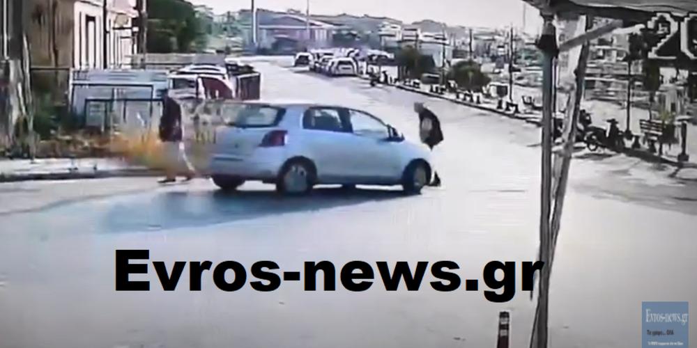 Αποκαλυπτικό ΒΙΝΤΕΟ: Αυτοκίνητο πέφτει πάνω σε πεζό στο λιμάνι της Αλεξανδρούπολης