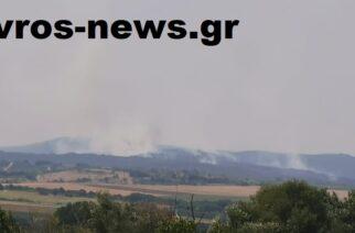 Διδυμότειχο: Ορατοί απ' τους Μεταξάδες καπνοί και πυρκαγιά που καίει κοντά στα ελληνοβουλγαρικά σύνορα