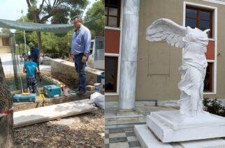 Σαμοθράκη: Άρχισε η κατασκευή της βάσης, για το άγαλμα Νίκης της Σαμοθράκης