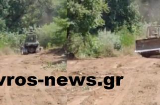 ΑΠΟΚΛΕΙΣΤΙΚΟ: Έργα του στρατού στα σύνορα με Τουρκία, Βουλγαρία, από Ορμένιο μέχρι Καστανιές (ΒΙΝΤΕΟ)