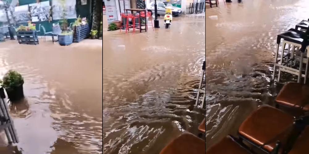 Διδυμότειχο: Πλημμύρισε από ξαφνική μπόρα ο κεντρικός πεζόδρομος της Βενιζέλου (ΒΙΝΤΕΟ)