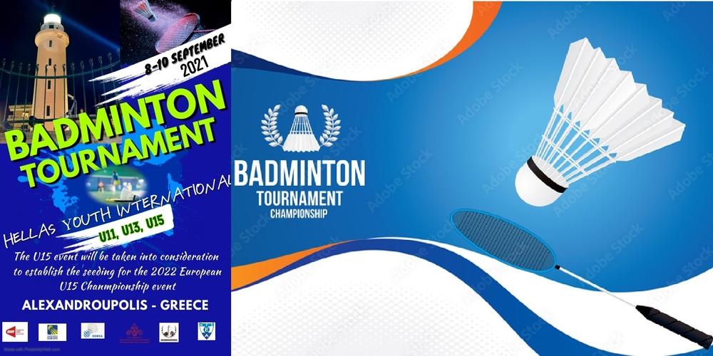 """Αλεξανδρούπολη: Ξεκίνησε η διεθνής διοργάνωση BADMINTON, """"HELLAS YOUTH INTERNATIONAL 2021"""""""