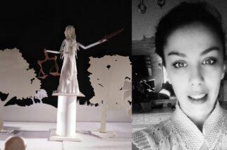 """Η Εβρίτισσα Δήμητρα Πεμούση εντυπωσιάζει, παρουσιάζοντας σε χάρτινο τρισδιάστατο κουκλοθέατρο, τον μύθο """"Δαίδαλου και Ίκαρου"""""""