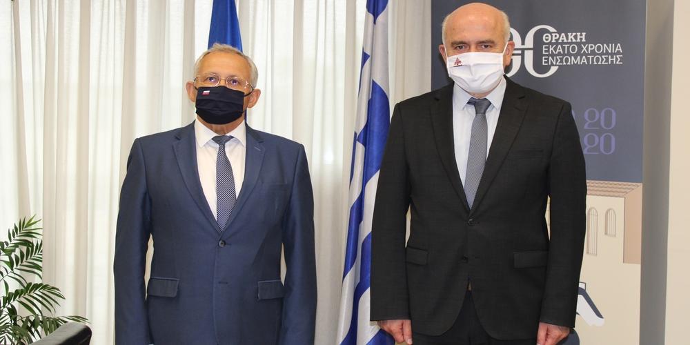 Συνάντηση του Περιφερειάρχη Χρήστου Μέτιου, με Γενικό Πρόξενο της Ρωσίας στη Θεσσαλονίκη