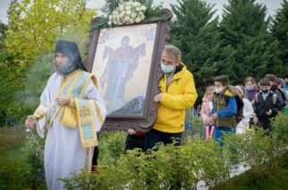 Εορτασμός της Αγίας Σκέπης στη Νέα Βύσσα, δίπλα στα ελληνοτουρκικά σύνορα
