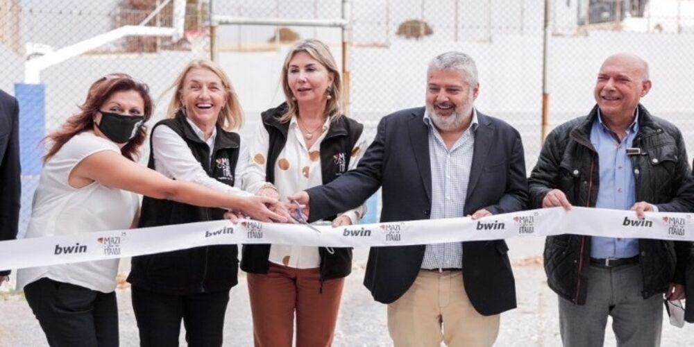 Σαμοθράκη: Παραδόθηκαν χθες τα γήπεδα που υποσχέθηκε στα παιδιά ο Πρωθυπουργός Κυριάκος Μητσοτάκης